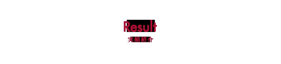実績紹介 Result
